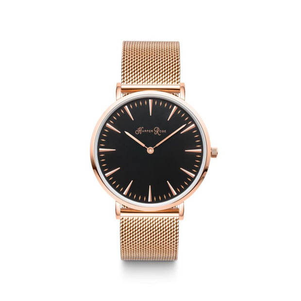 Rose Gold Mesh (Rose Gold/black) - Watches