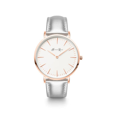 Silver Leather (Rose Gold/white) - Watches
