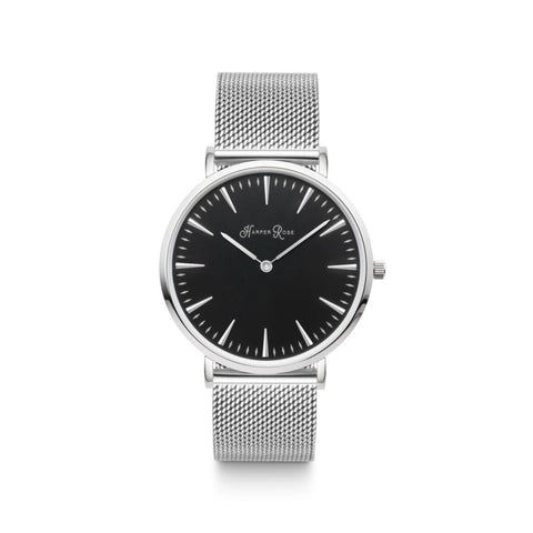 Silver Mesh (Silver/black) - Watches