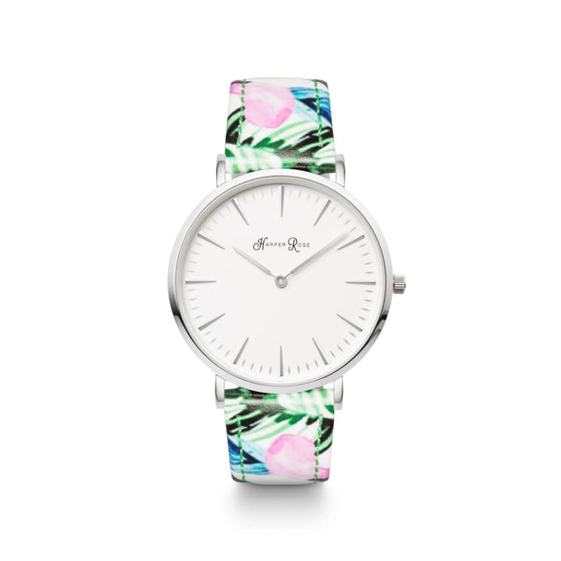 Tropical Leather (Silver/White) - Harper Rose