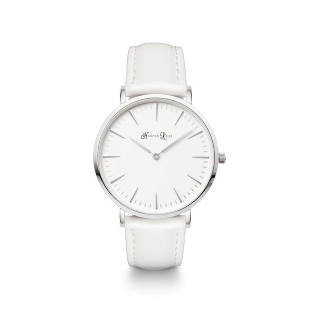 White Leather (Silver/White) - Harper Rose