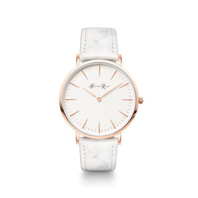 White Marble (Rose Gold/white) - Watches