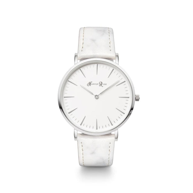 White Marble (Silver/white) - Watches