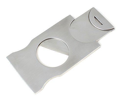 Tiny Travel Size Cigar Cutter Guillotine Style Polished Steel Casing and Blade - Measures 2