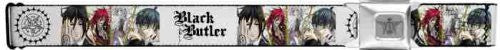 Black Butler Seatbelt Belt - Main Character Faces Anime w/ Logo