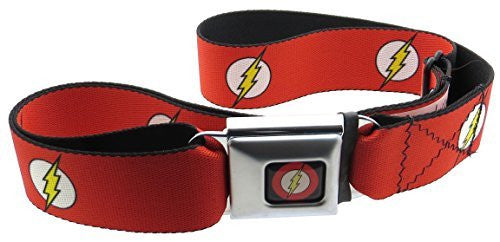 Flash Logo Black Seatbelt Belt The Flash Logo Red White Yellow