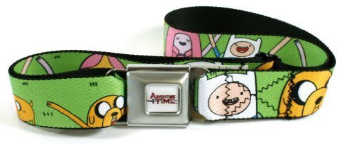 Adventure Time Seatbelt Belt - Finn, Jake and Princess Bubblegum