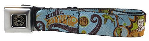 Aquaman Seatbelt Belt Aquaman Pose KING OF THE SEVEN SEAS Sky Blue/Orange/Brown