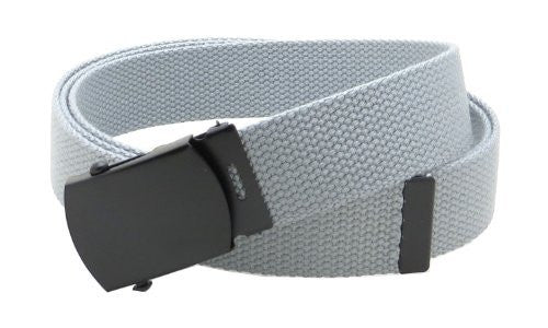 Canvas Web Belt Military Style with Black Buckle and Tip 56