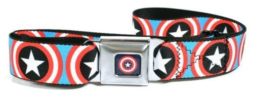 Captain America Shield Buckle Seatbelt Belt
