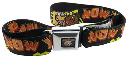 Angry Beavers Logo Seatbelt Belt Norbett and Daggett NOW YOU CAN PANIC!