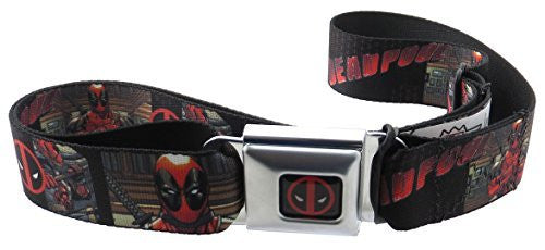 Deadpool Marvel Seatbelt Belt Comic Panels