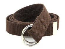 "Canvas Web Belt D-Ring Buckle 1.25"" Wide Metal Tip Plus Size XXL and XXXL"