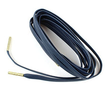 "Flat Sheepskin Leather Shoelaces 1/4"" Wide 51"" Long Metal Agelts - Great For Sneakers and Shoes"
