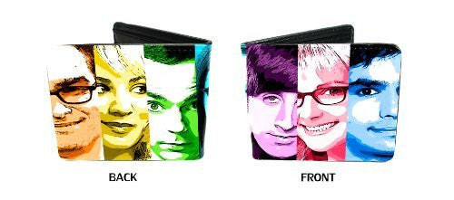 Big Bang Theory CBS Comedy TV Show Face Slices Characters Bi-Fold Wallet