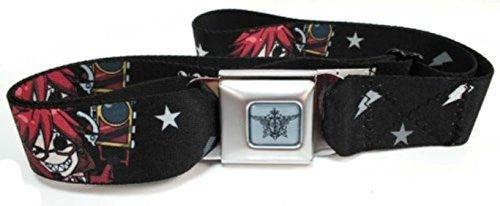 Black Butler Seatbelt Belt - Chibi Rell Red, Black & White