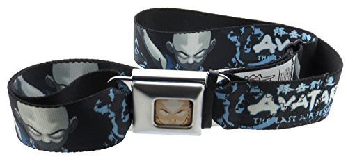 Avatar The Last Air Bender Aang Face Seatbelt Belt Black Gray Blue Close Up