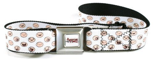 Adventure Time Seatbelt Belt - Faces of Finn