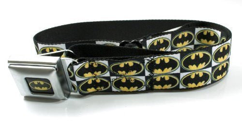 Batman Checkerboard Batman Logo Seatbelt Belt