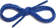 "Waxed Cotton Round Shoelaces 1/8"" Thick Solid Colors For Dress Shoes"
