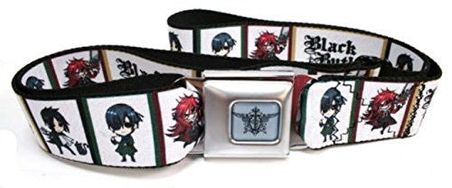 Black Butler Seatbelt Belt - Chibi Character Blocks Anime
