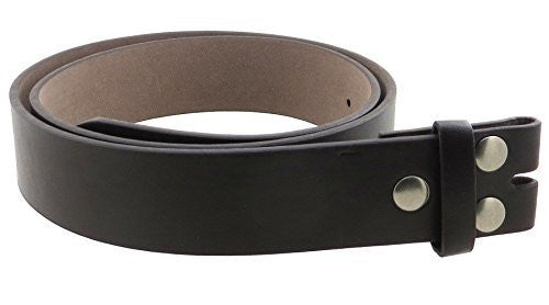 Leather Belt Strap with Smooth Grain Finish 1.5
