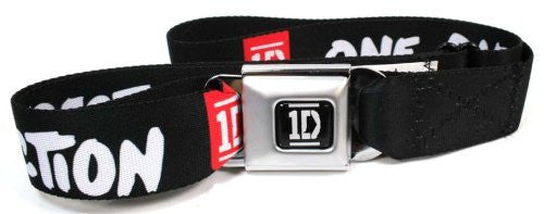 One Direction Black Red White Seatbelt Belt