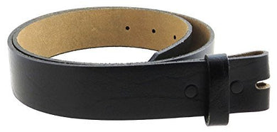 Men's Genuine Leather Belt Strap Straight-Cut Edge Oil Tanned 1.5