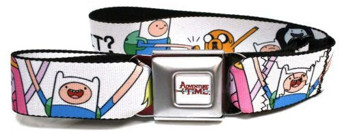 Adventure Time Jake/Princess Bubblegum/Finn WHAT TIME IS IT? Seatbelt Belt