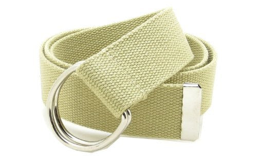 Canvas Web Belt Double D-Ring Buckle 1.5