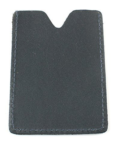 Mens Simple Genuine Leather Card Sleeve Wallet - Top Grain Leather Holds Up To Four Cards