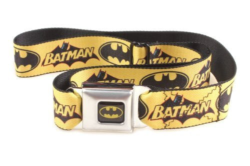 Batman Vintage Logo and Bat Signal Seatbelt Belt