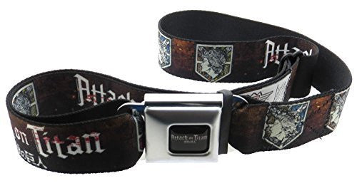 Attack On Titan Seatbelt Belt Wall Symbols Black White Red