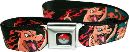 Pokemon Charmander Evolutions Seatbelt Belt