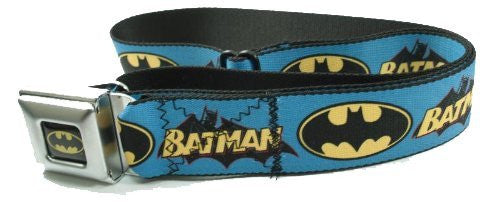 Batman Logo Blue Seatbelt Belt