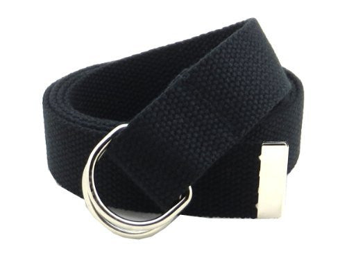 Canvas Web Belt D-Ring Buckle 1.25