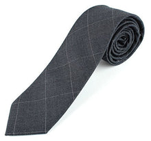 "Men's Cotton Skinny Necktie Colorful Cross Stich Pattern - 2 1/2"" Width Tie"