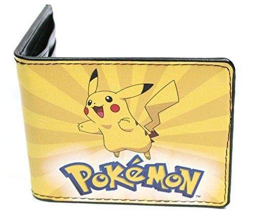 Pokemon - Pikachu Happy Leather Wallet 4 x 4in