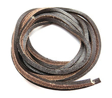 "Geniune Leather Shoelaces 1/8"" Square Solid Colors - Perfect For Work Boots and Boat Shoes"