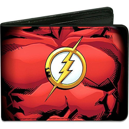 The Flash DC Comics Justice League Red Chest Logo Bi-Fold Wallet