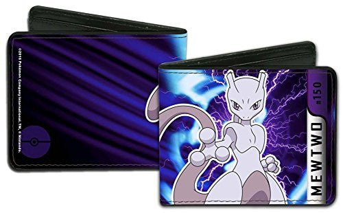 Pokemon Mewtwo Charged Pose Wallet 5 x 5in