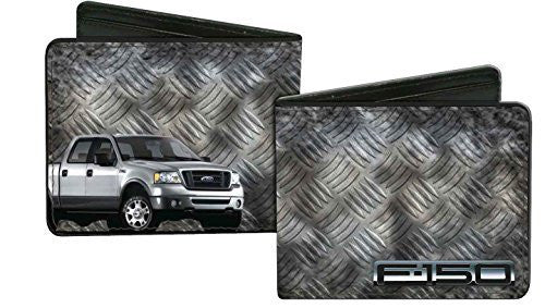 Ford F-150 + Truck/Checker Metal Diamond Plate - Bi-Fold Wallet