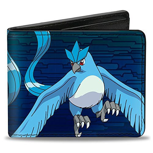Bi-Fold Wallet - Articuno Flying Pose + Text Blues