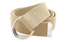 "Canvas Web Belt D-Ring Buckle 1.5"" Wide Metal Tip Plus Size XXL and XXXL"