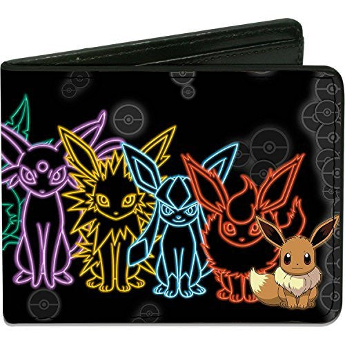 Pokemon Eevee Evolution Outlines Bi-fold Wallet