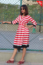 Red - White Stripe Dress Dress