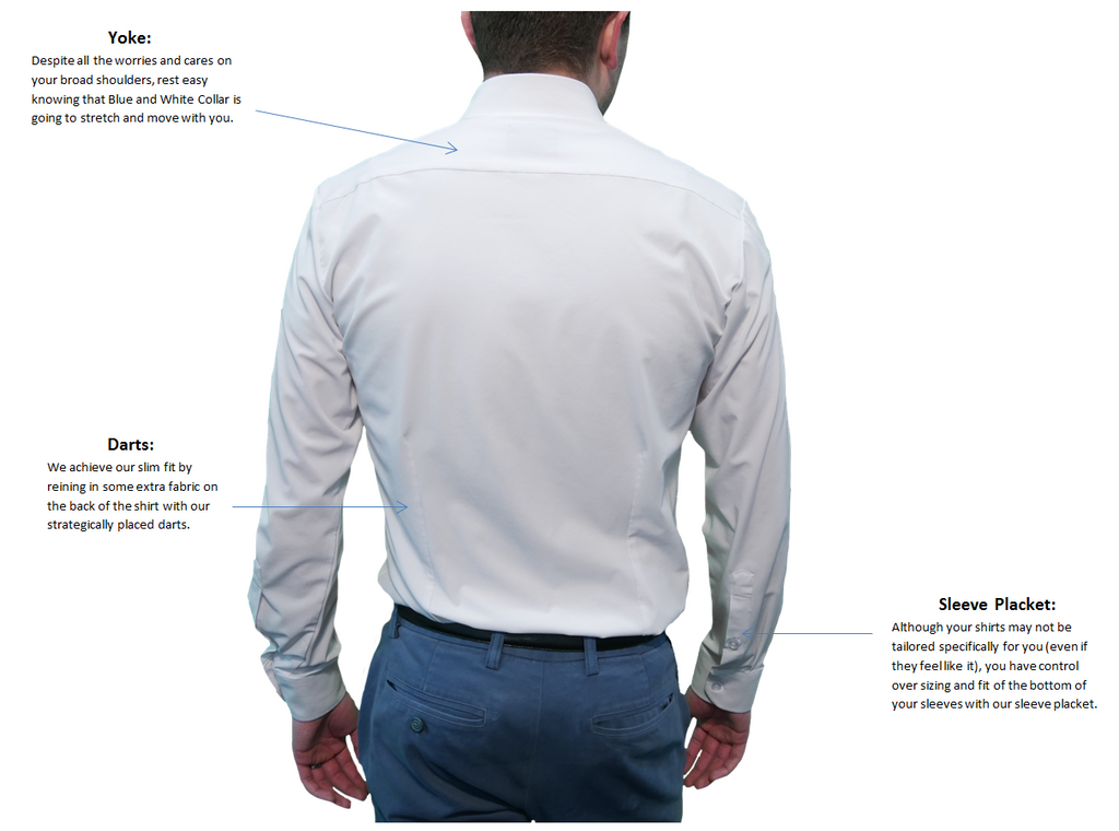 Anatomy of a Performance Dress Shirt - Back