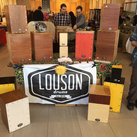 Louson Drums craft booth