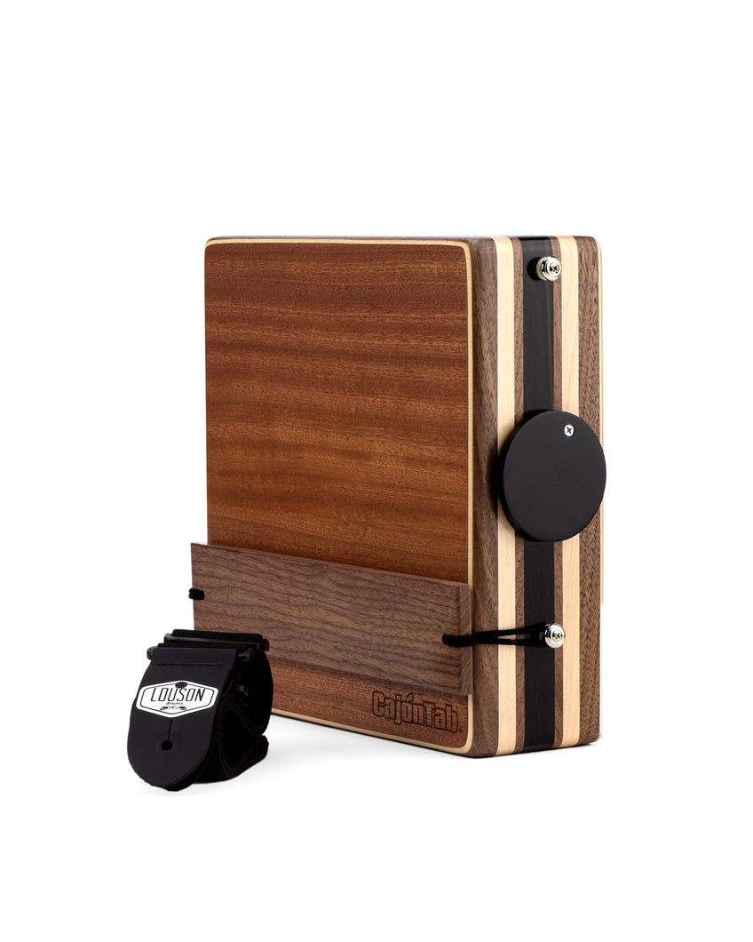 "CajonTab®️ Pro Series 12"" - Cherry, Ebony, Walnut with Walnut Snare"