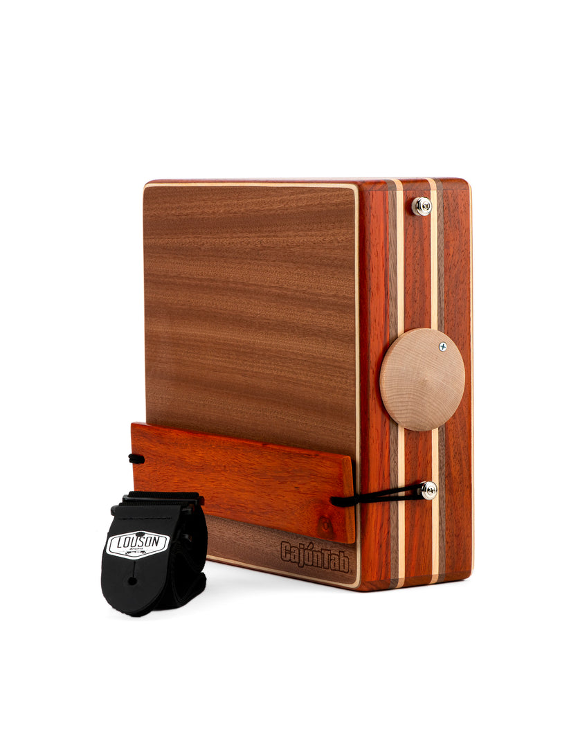 "12"" Pro Series CajonTab- Padauk, walnut and cherry double stripe"